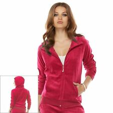 Juicy Couture Velour Hoodie in Bright Rose -  Size Large NWT ladies