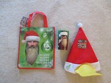 DUCK DYNASTY X-MAS GIFT LOT duck bill hat,holiday cup,tote Bag