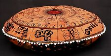 Astrology Tapestry Indian Floor Pillow Meditation Cushion Cover Ottoman Pouf 32""