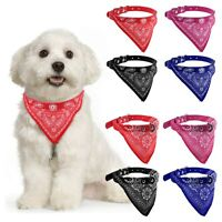 NEW Puppy Pet Dog Adjustable Neck Scarf Bandana with Leather Collar Neckerchief