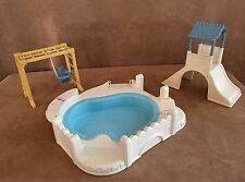 Playground pool Fisher Price Loving Family Dollhouse Doll Furniture slide lot