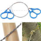 Outdoor Camping Hiking Steel Wire Saw Scroll Hunting Emergency Survival Tool NEW