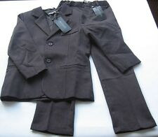 Jacke Hose Anzug Gr.128 Loki cadeau NEU m.E dunkel grau feine Nadelstreifen Set