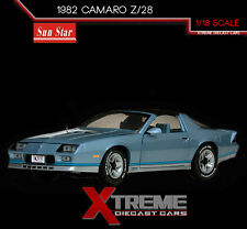 SUNSTAR SS-1929 1:18 1982 CHEVROLET CAMARO Z/28 LIGHT BLUE DIECAST CAR