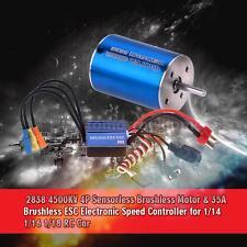 2838 4500KV 4P Sensorless Brushless Motor+35A ESC for 1/14 1/16 1/18 RC Car H2O9