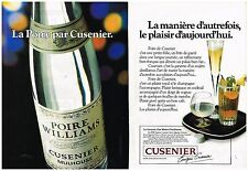 Publicité Advertising 1979 (2 pages) Eau de Vie Poire Williams par Cusenier