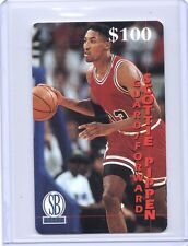 1996 Score Board Scottie Pippen $100 Expired phone card unscratched/unused /999