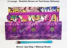 3X Urban Decay ~ Lounge Eyeshadow w/ Royal & Langnickel Brush & Free Ipsy Bag