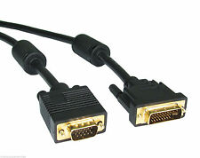 2m DVI Male to VGA Male Cable PC to TV LCD TFT Monitor