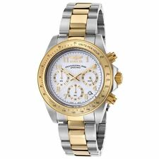 Invicta 17026 Men's White Dial Two Tone Steel Chrono Dive Watch