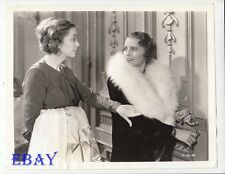 Barbara Stanwyck Zazu Pitts VINTAGE Photo Shopworn