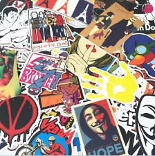 20Pcs Luggage Laptop Skate Skateboard Bomb Funny Graphics Vinyl Stickers Decals