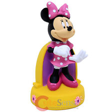 "Disney Minnie Mouse Figure Coin Bank 3D PVC 10"" Figurine Stationery"