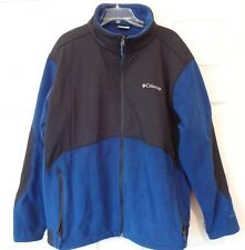 Men's Fleece/Nylon, Full Zip Columbia JACKET, Size XXL 2XL, Omni-Shield Blue EUC