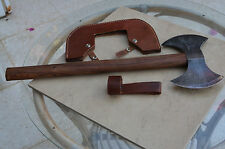 Custom Made Hand Forged Damascus Steel Hunting axe V9645 with Olive Wood Handle