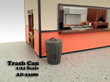 TRASH CAN ACCESSORY SET OF 2 FOR 1:24 SCALE MODELS BY AMERICAN DIORAMA 23986