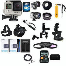 GoPro HERO4 Black Edition All In 1 PRO Accessory KIT Mount Bundle w LEXAR 32GB