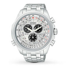 Citizen Mens Eco Drive Perpetual Calendar Chronograph Watch BL5400-52A