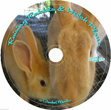 Raising Rabbits Meat Production Hutch Plans CD 28 Books 36 Guides Fur Breeding