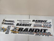 (1) NEW BANDIT BRUSH WOOD CHIPPER MODEL 200XP CHIPPER LOGO DECAL SET