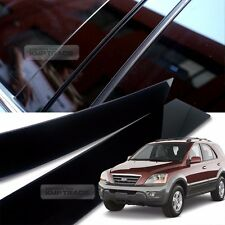 Glossy Black B Pillar Post UV Coating Cover Trim 4Pcs For KIA 2003-2009 Sorento