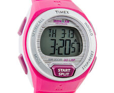 NEW-TIMEX IRONMAN OCEANSIDE, PINK,RUBBER BAND,INDIGLO,30-LAP, WATCH T5K761