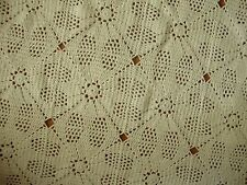 """Vintage Hand Crocheted Bedspread Coverlet 88"""" x 90"""""""