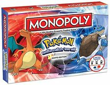 USAopoly Monopoly BOARD GAME, Pokemon Kanto Edition Family MONOPOLY GAME