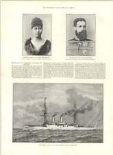 1890 Uss Boston Steel No Armour Potsdam Festival Betrothal Princess Victoria