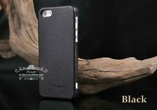 Iphone 5/5s/SE Genuine Leather Hand Crafted Case Horizontal Flip Design,Black