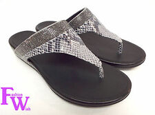New FITFLOP Size 7 BANDA CRYSTAL SNAKE Thong Sandals Shoes
