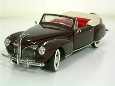 Franklin MINT modello di auto 1:24 Lincoln Continental Mark I CONVERT. 1941, Mattoncini