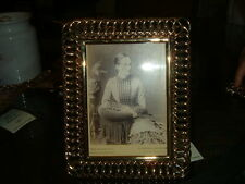 ANTIQUE ENGLISH BRASS RING FRAME