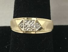 Diamond Accent 10K Yellow Gold Men's Ring Size 11.75