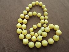 Natural Baltic amber necklace,yellow-17.3 grams