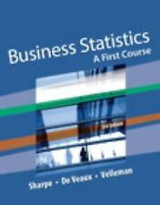 Business Statistics:A First Course -Velleman,Sharpe.. INSTRUCTORS EDITION