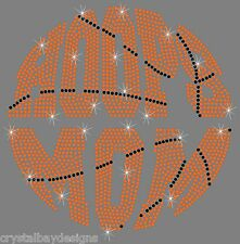 Basketball Hoops Mom Sport Team Bling Rhinestone Transfer Hot Fix Iron On 51-97