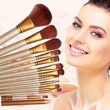 12 Pcs Professional Make up Brushes Set Foundation Blusher Kabuki Super Soft
