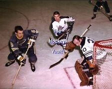 Tim HORTON Guards MASKLESS Bruce GAMBLE Toronto MAPLE Leafs w/ ROBERTS Blues 8X