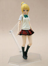 MY-S-RP: 1/12 scale fabric school uniform skirt for Figma female figure - Red