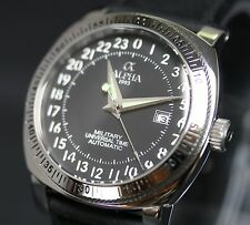 Alpha Military Universal Time Automatic Watch Brand New PNR-24HR