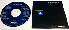 RARE - BOSE WAVE CD RADIO DEMO 13 TRACK MUSIC CD DISC 1998 - NOT FOR SALE