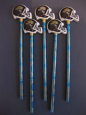 JACKSONVILLE JAGUARS LOT OF 5 PENCILS WITH HELMET SHAPED ERASER NEW NFL LICENSED