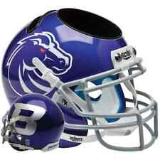 BOISE STATE BRONCOS NCAA Schutt Mini Football Helmet DESK CADDY