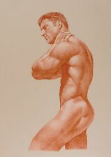 MALE NUDE in Terracotta Limited Edition GAY ART INTEREST PRINT
