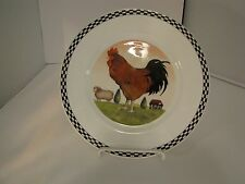 "Crown Trent Bone China Rooster Annandale Farm 8"" Plate NWT"