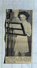 1949 Kathryn Beaumont, 11, Voice Of Alice Walt Disney Rehearsing Hollywood