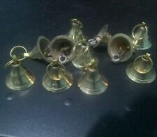 10 X Handcrafted Small Tiny Brass Metal Bell for DIY Craft Home Decor Bells Gift