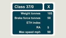 1x Class 37-0 Data Panel Train Depot Sticker/Decal 100 x 77mm
