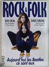 Revue Rock & Folk Décembre 1995 Kim Deal Dave Grohl